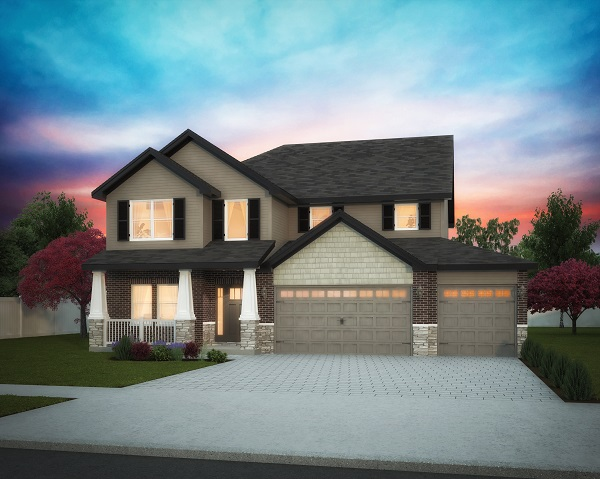 It doesn't just need to be about how real your renderings look, sometimes we don't want them to look like a photograph. In special cases when our clients want their rendering to transmit something specific, we do our best to make them happy and can add a touch of artistic flare like in the colors and soft glow of this rendering. This client wanted a colorful rendering of his home against a deep sunset with strong lights.
