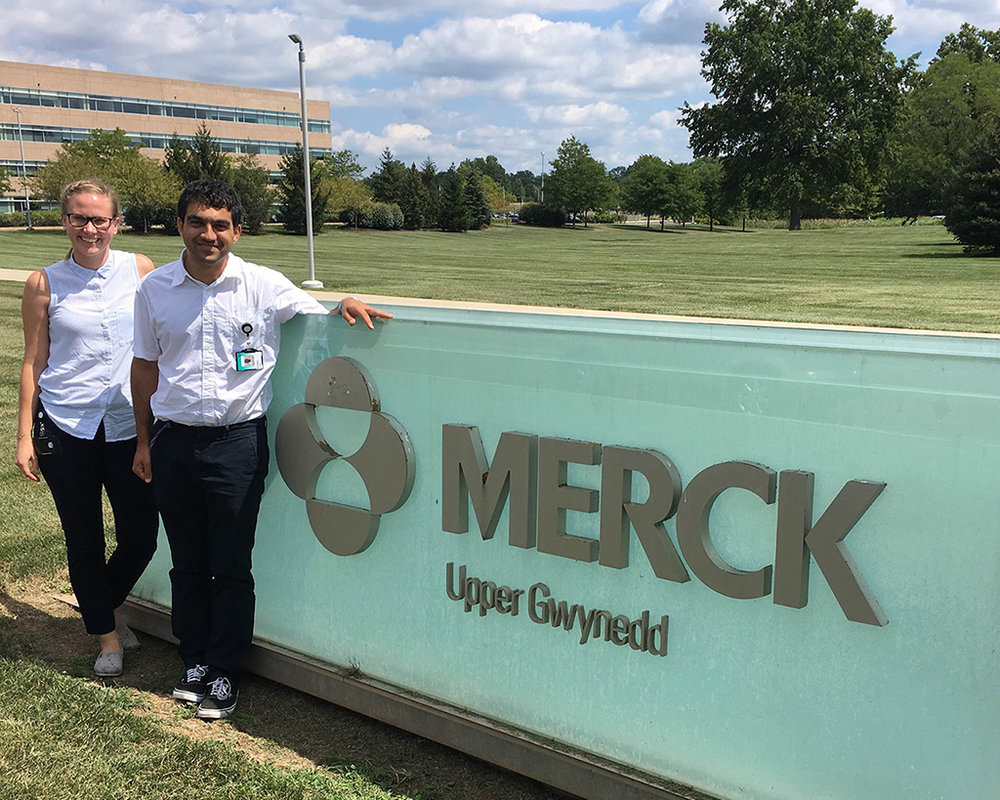 Kristina and another Merck Future Talent intern.
