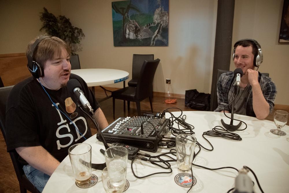 Greg Homyak of San Diego Beer Talk Radio (Left) & Eduardo Castro Fonseca of Kings of the Craft (Right).