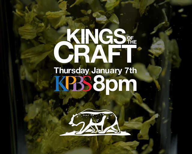 Tonight. 8 pm. KPBS. You know what to do.  Join the discussion on Facebook and Twitter @kingsofthecraft  Thank you! @kpbsofficial  #sdbeer#beer#craftbeer#craft#documentary#series#docseries#sandiego#california#television#pbs#kpbs#follow#discuss#brewery#brewer#photooftheday