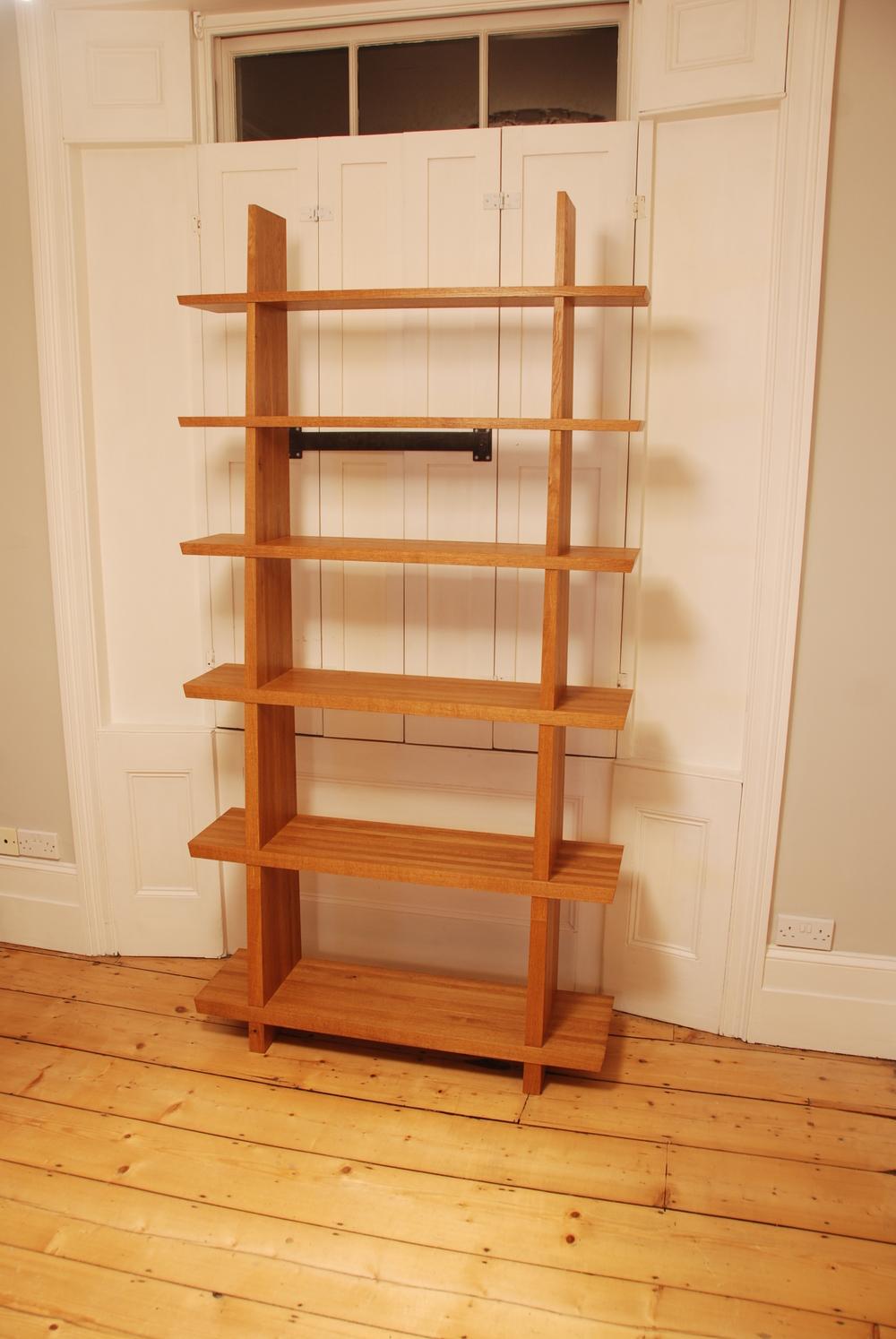 12 Fumed Oak Tapered Shelves.JPG