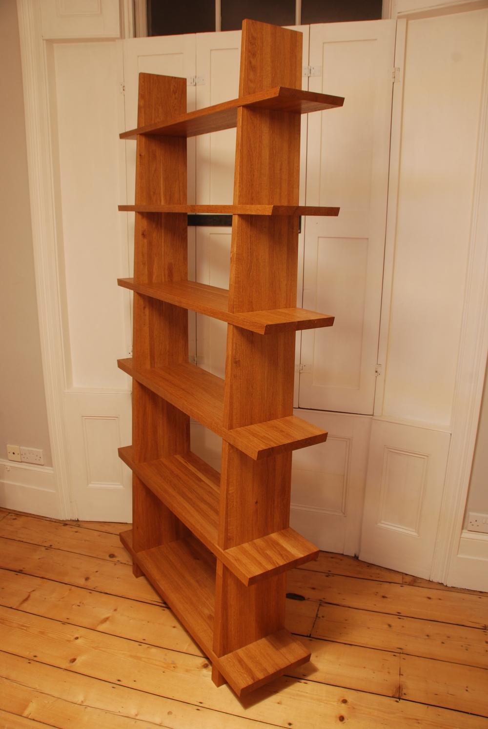 13 Fumed Oak Tapered Shelves.JPG