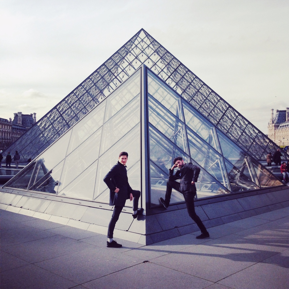Lads at the Louvre
