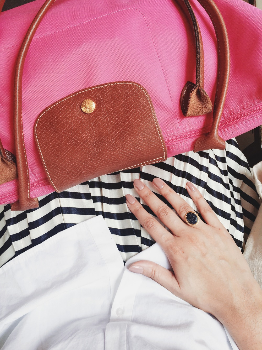 my fave things (no irony there) patterns, manicures and pink!