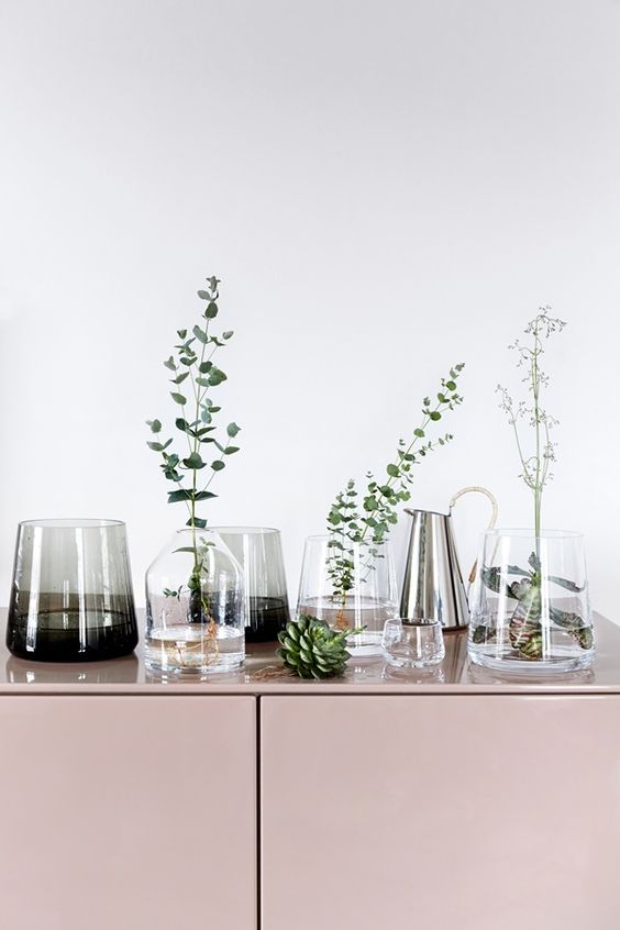 Millennial Pink with leaf and vases flowers.jpg