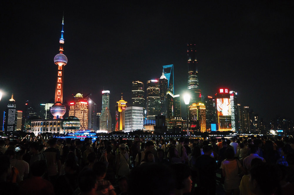 This is really what the bund looks like - heaving!