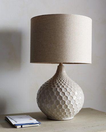 Blakely Cream Ceramic Linen Table Lamp