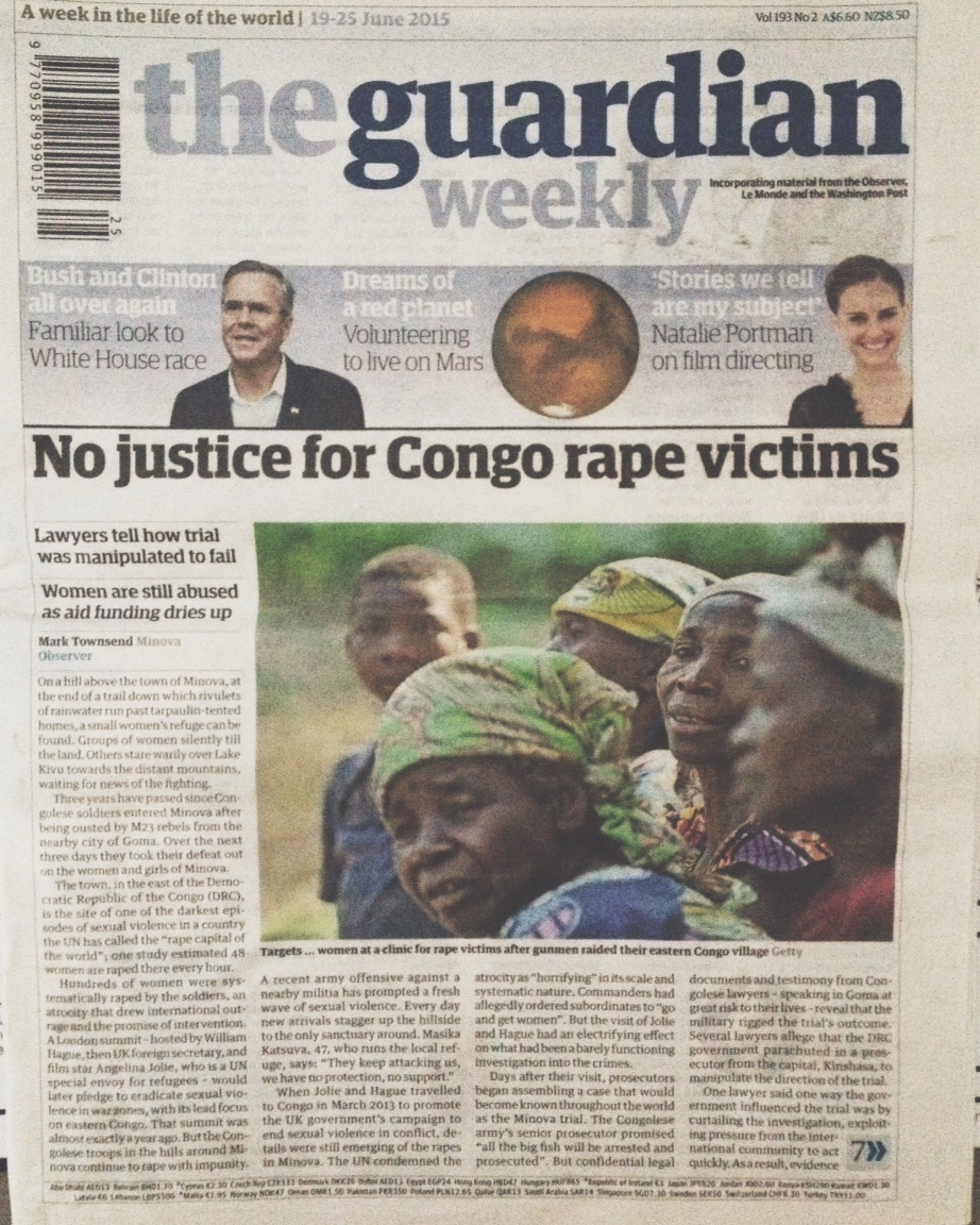 An article by The Guardian, published two weeks before my arrival. In it, The DRC dubbed as the rape capital of the world.