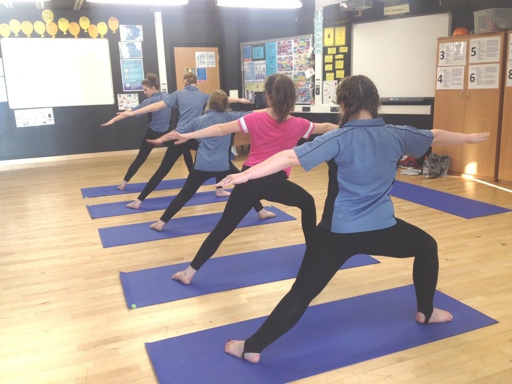 yoga and mindfulness in secondary school