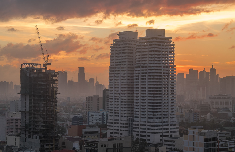 Sunrise over Manila