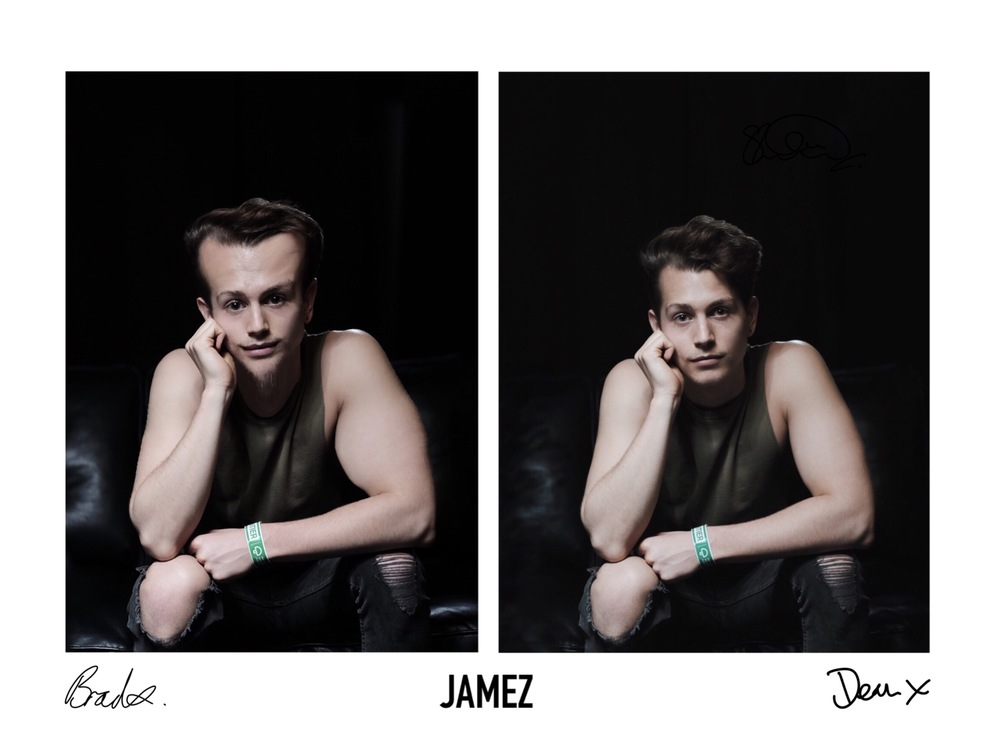 Mine and Brads edits of my photo of James.