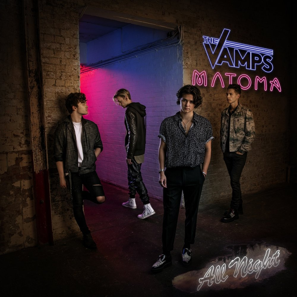 The Vamps new Single  All Night.  Cover photography by me, 3 images combined to produce it.