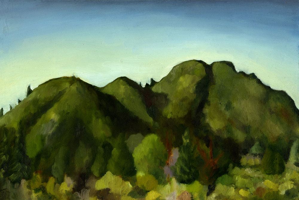 "Mt. Tamalpais from Gravity Car Shortcut  Oil on panel  8"" x 12"" 2015"