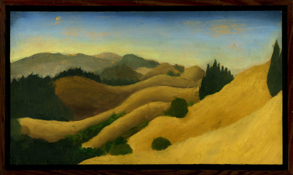 "Bolinas Ridge #5  Oil on panel 8.5"" x 14.5"" 2009"