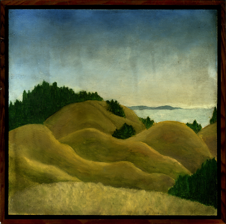 "Bolinas Ridge #1  Oil on panel 12"" x 12"" 2009"