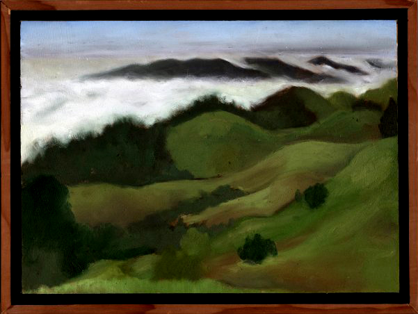 "Bolinas Ridge Spring  Oil on panel 8"" x 11"" 2009"