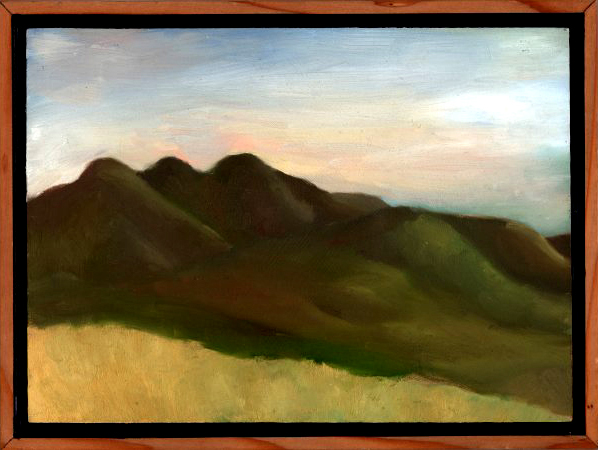 "Marin Headlands from Four Corners  Oil on panel 9"" x 12"" 2009"