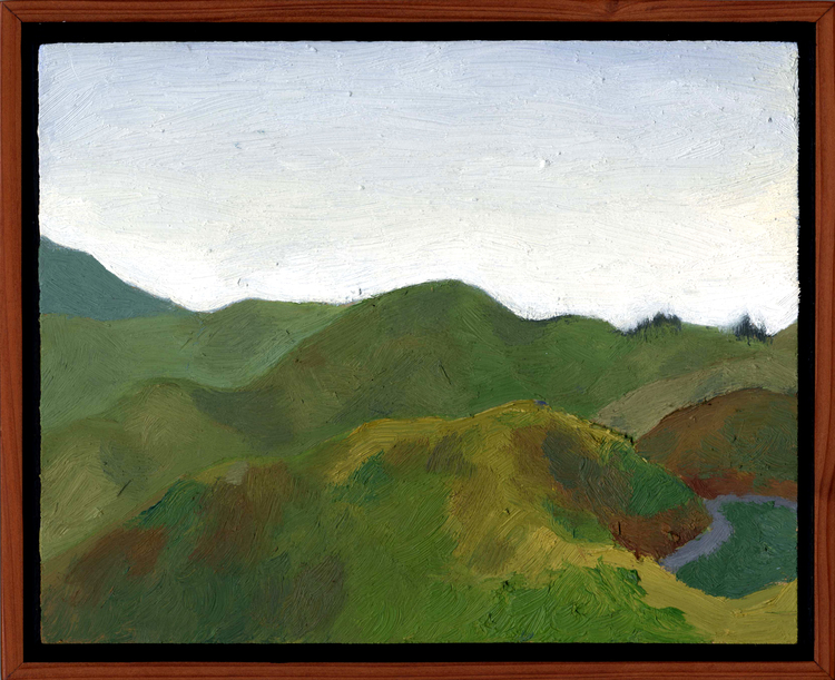 "Marin Headlands  Oil on panel 8"" x 10"" 2008"