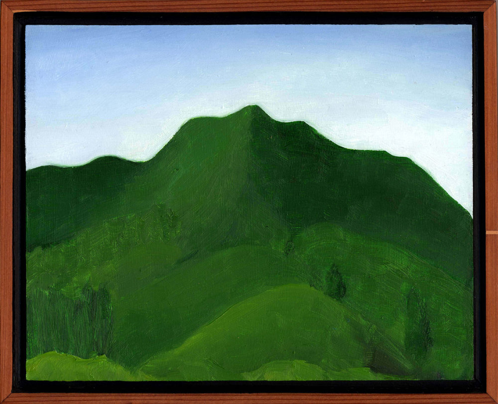 "Mt. Tamalpais from Fear Canyon Road #1  Oil on panel 8"" x 10"" 2008"