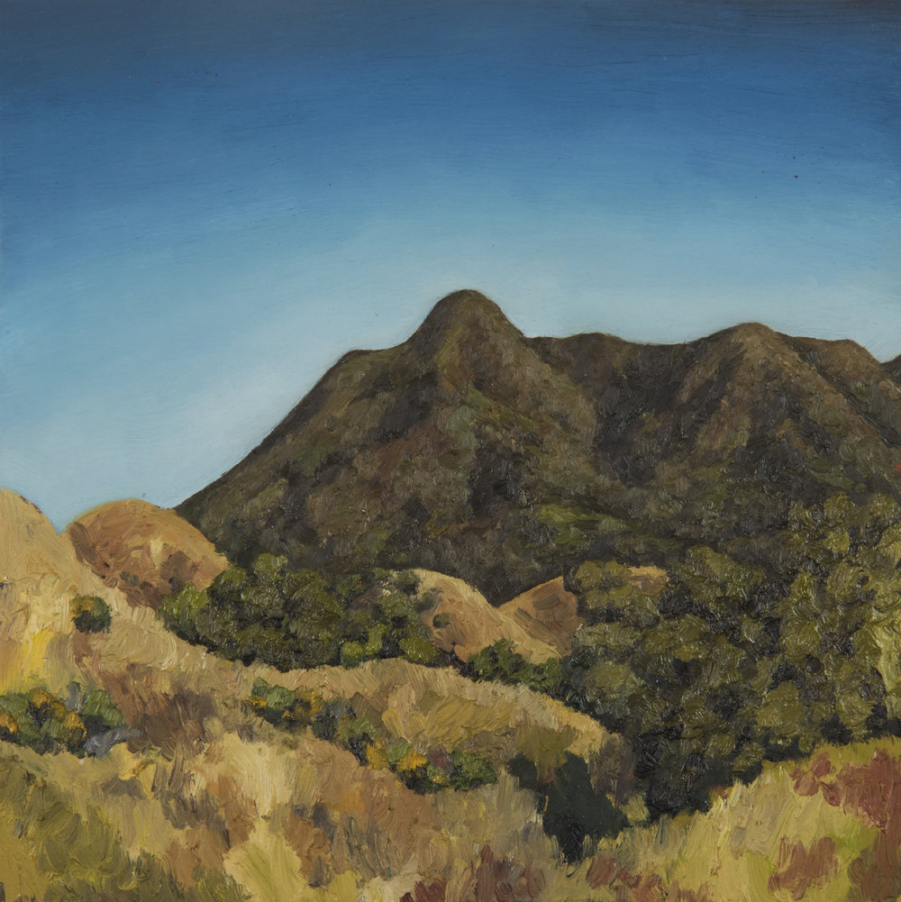 "Mt. Tamalpais from Bald Hill  Oil on panel 10"" x 10"" 2018"