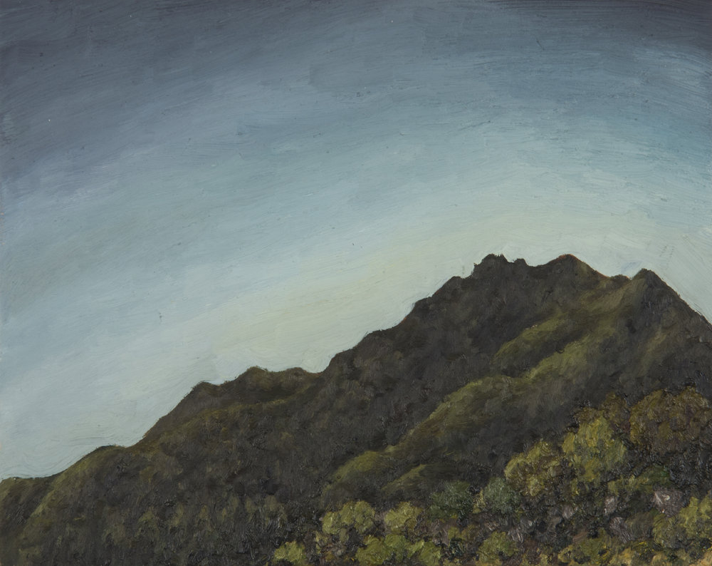 "Mt. Tamalpais from H-Line Fire Rd  Oil on panel 8"" x 10"" 2018"