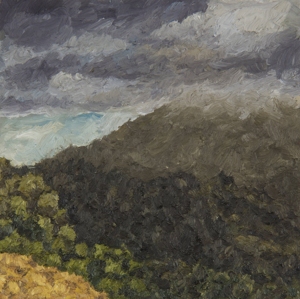 "Mt. Tamalpais from Redhill  Oil on panel 5"" x 5"" 2018"