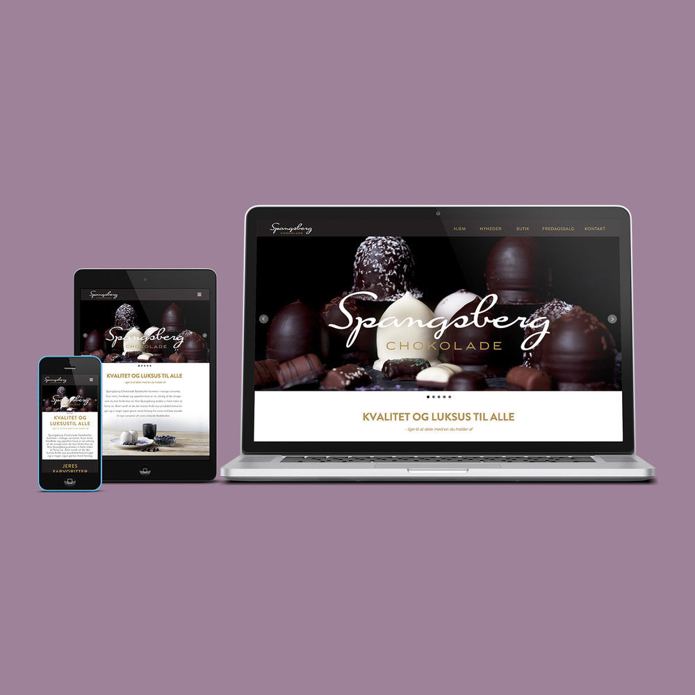 A new website for Spangsberg Chocolate