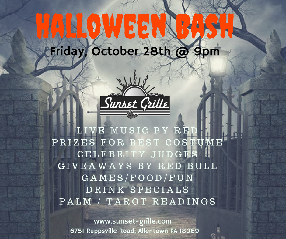 We are going all out for our halloween bash this year!  There are 5 categories to the costume contest, and the overall winner will receive a $100 gift card!  Local band Red will be performing from 9-12. Tarot Card Readings will be available from 9-12. Lagunitas IPA, Stoopid Wit, and A Little Sumpin' Sumpin' will be $4 all night.  Red Bull drinks will be on special, and there will be shot girls! There will be Beer Pong, Cornholes, Apple Bobbing, and so much more! You aren't going to have enough time to enjoy it all so get here early and have a blast!!