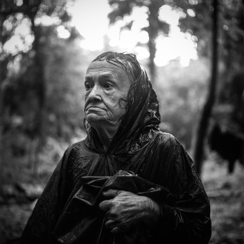 Mary in the Rain, Cocoa, FL 2013