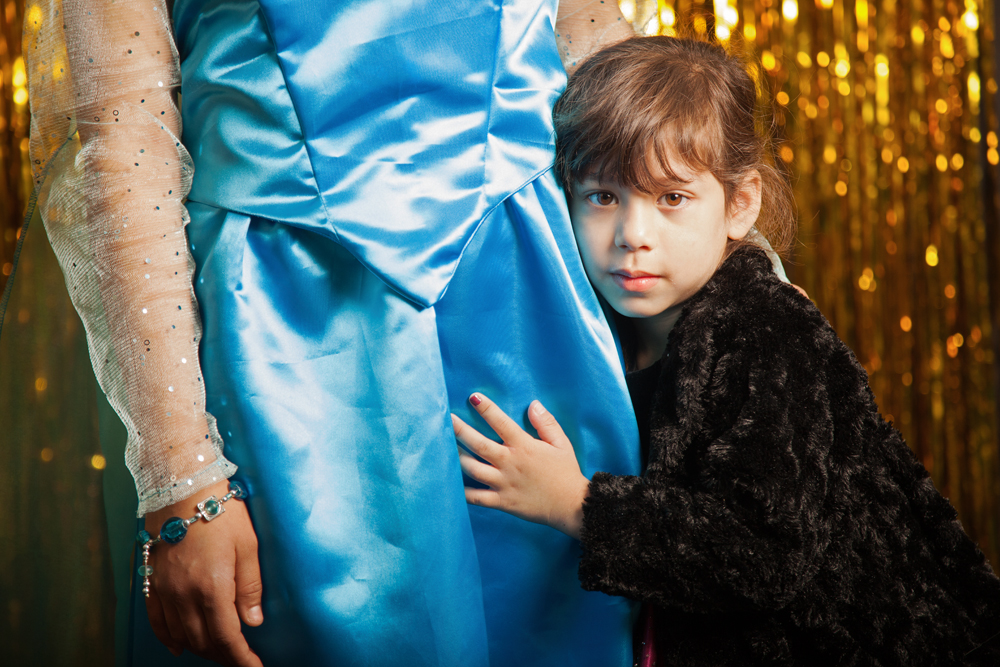 Jocelyn Hugs Her Big Sister Emelsy (in Frozen Gown), 2015