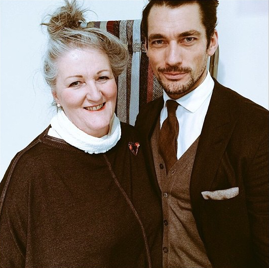 Rosemary Goodenough with David Gandy at LC:M AW15