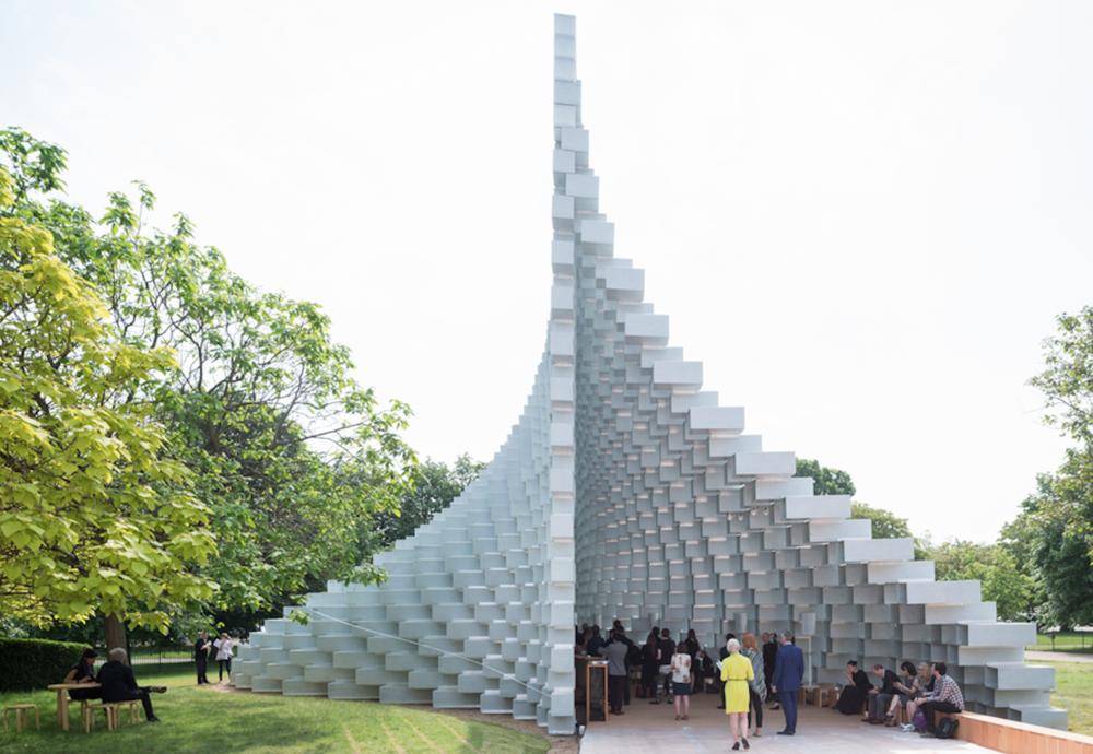 Serpentine's unzipped wall by Bjarke Ingels opens