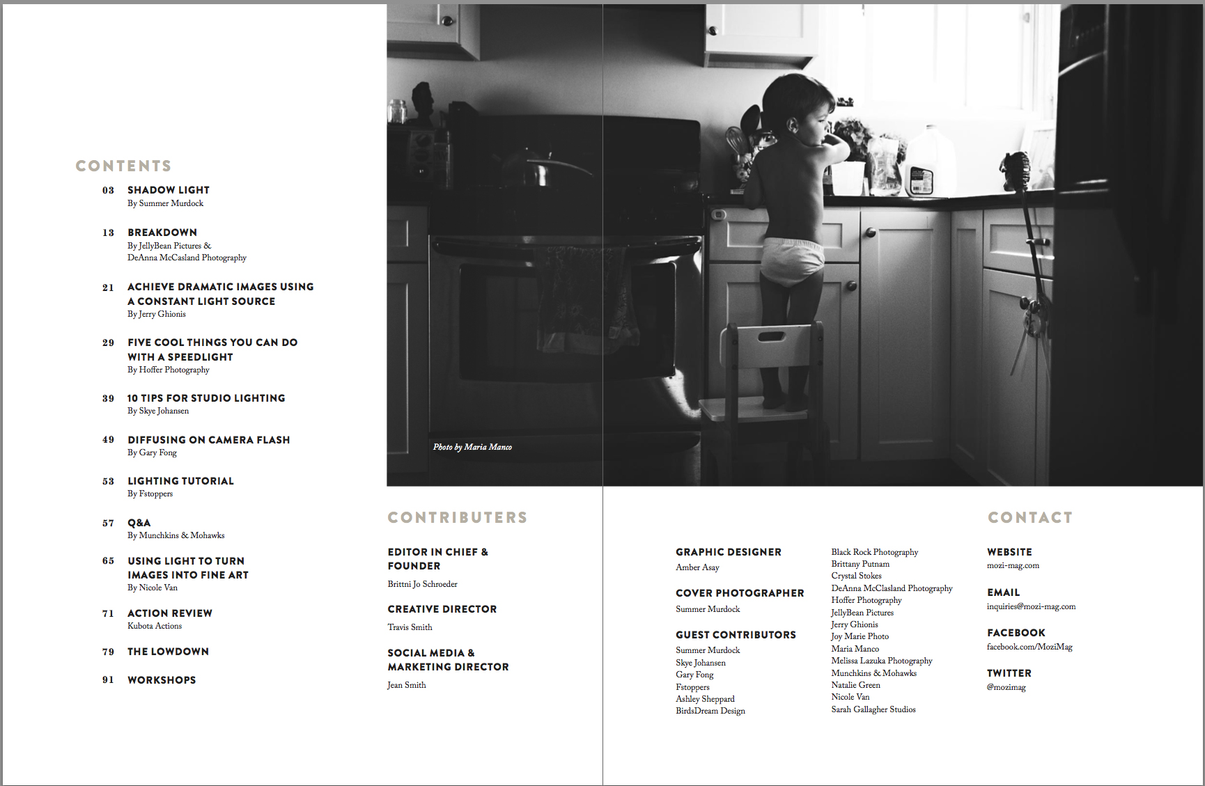 mozi table of contents