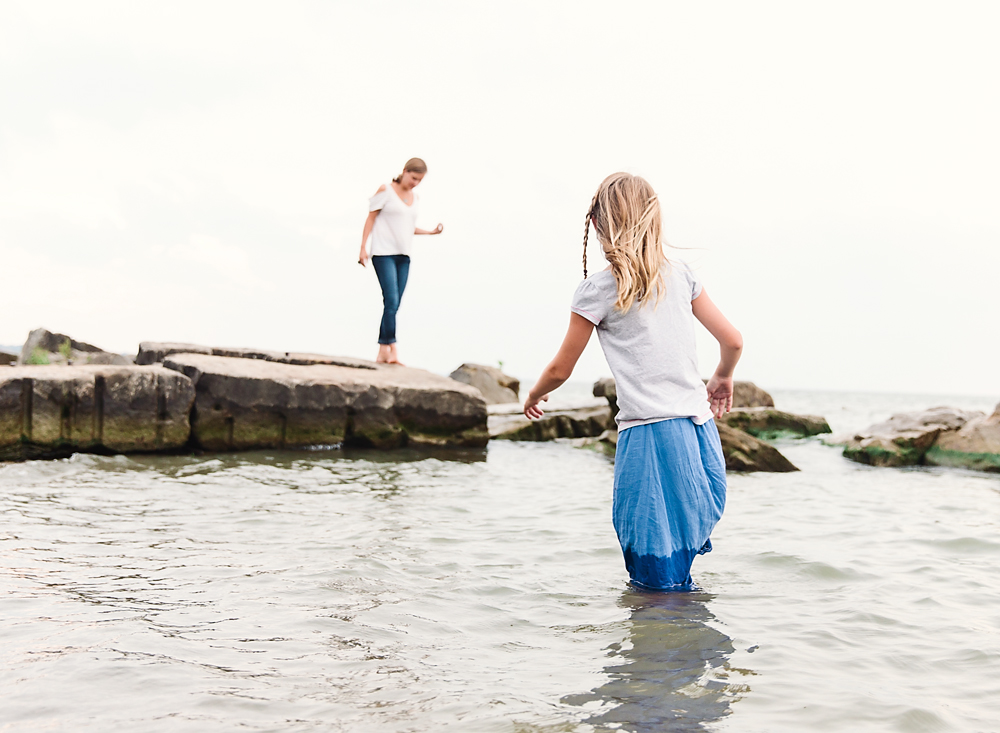rocky river beach photography family