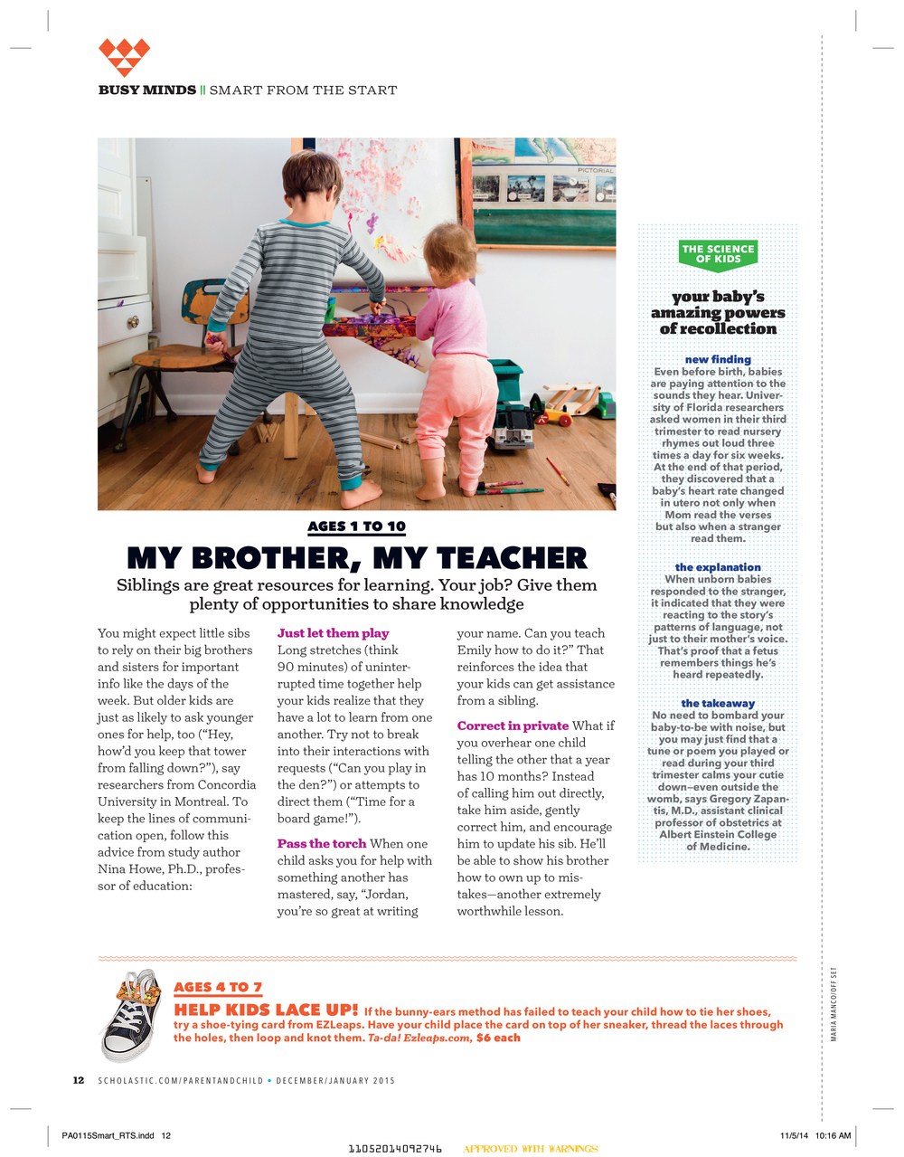 Scholastic Parent & Child Magazine Jan 2015