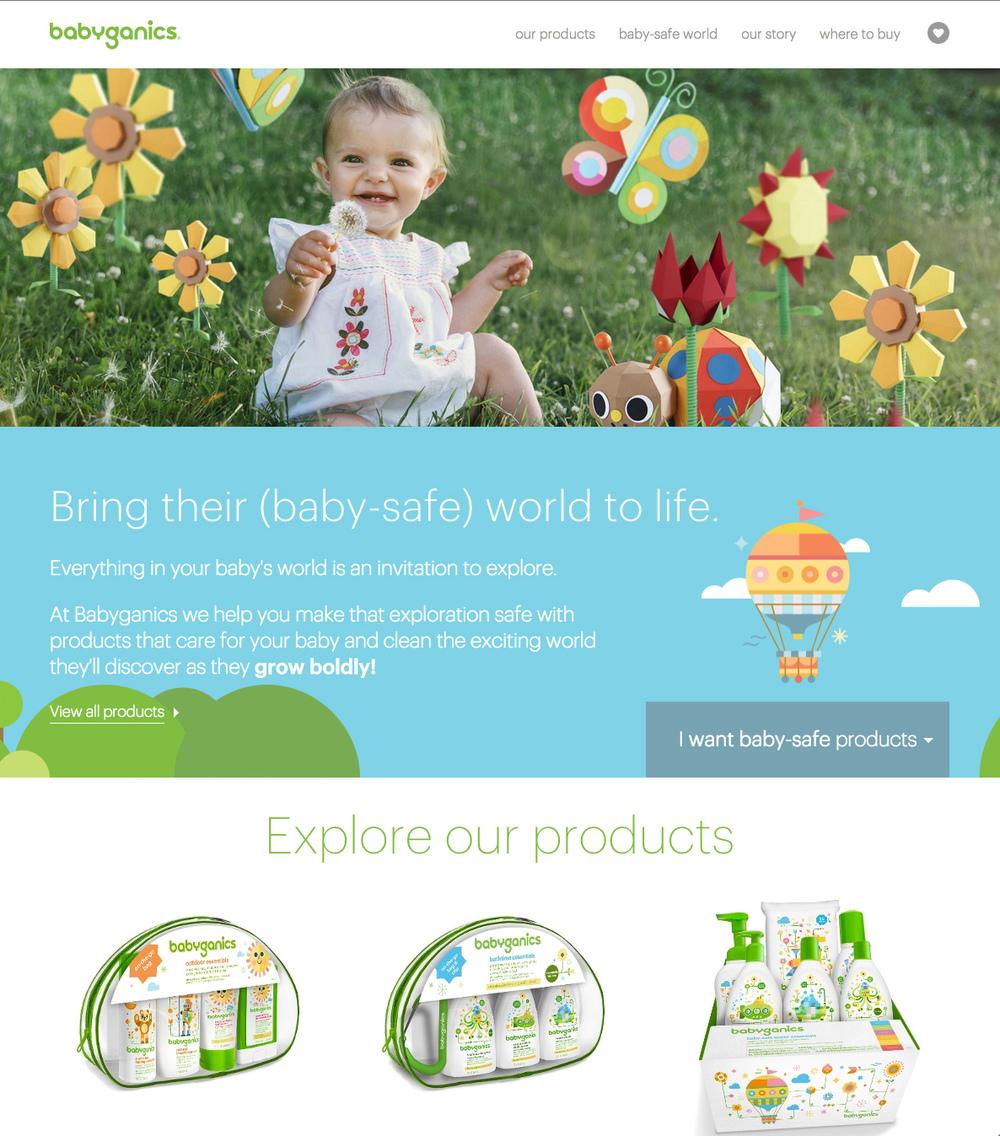 BabyGanics Website