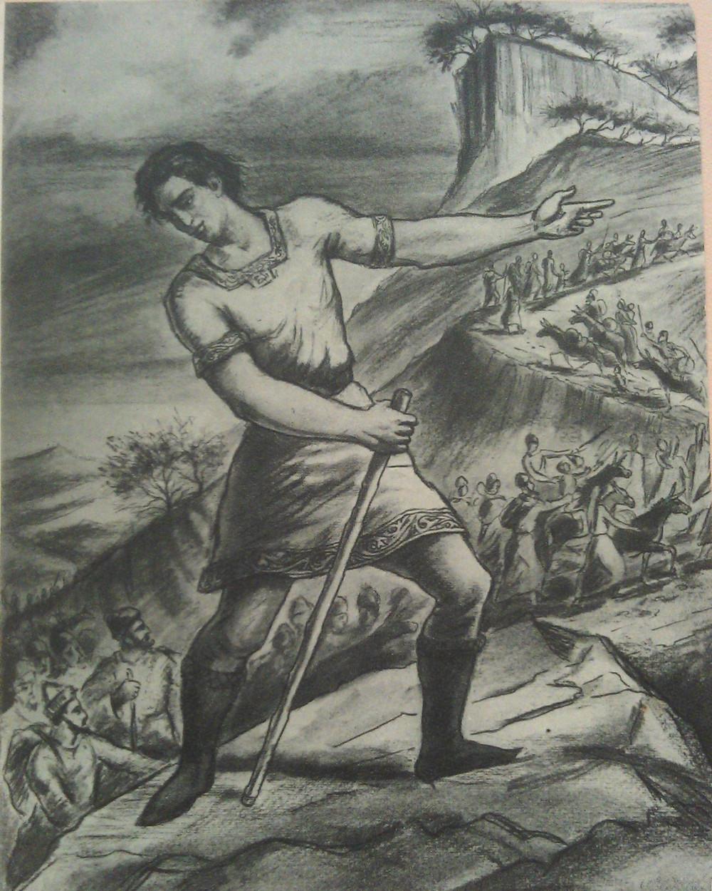 Мгер Абегян -Санасар строит Сасун