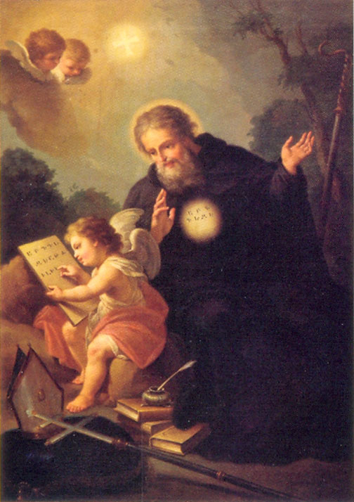 Итальянский живописец Франческо Маджотти изобразил Маштоца в момент божественного озарения, которое символизируют путти - маленькие крылатые мальчики.