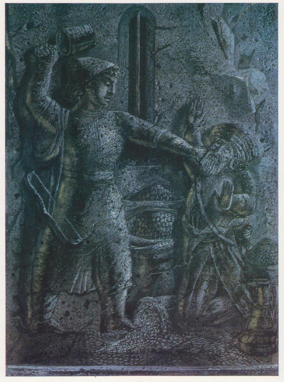 Е.С. Кочар Давид и сборщики дани. Иллюстрация к эпосу «Давид Сасунский». 1939
