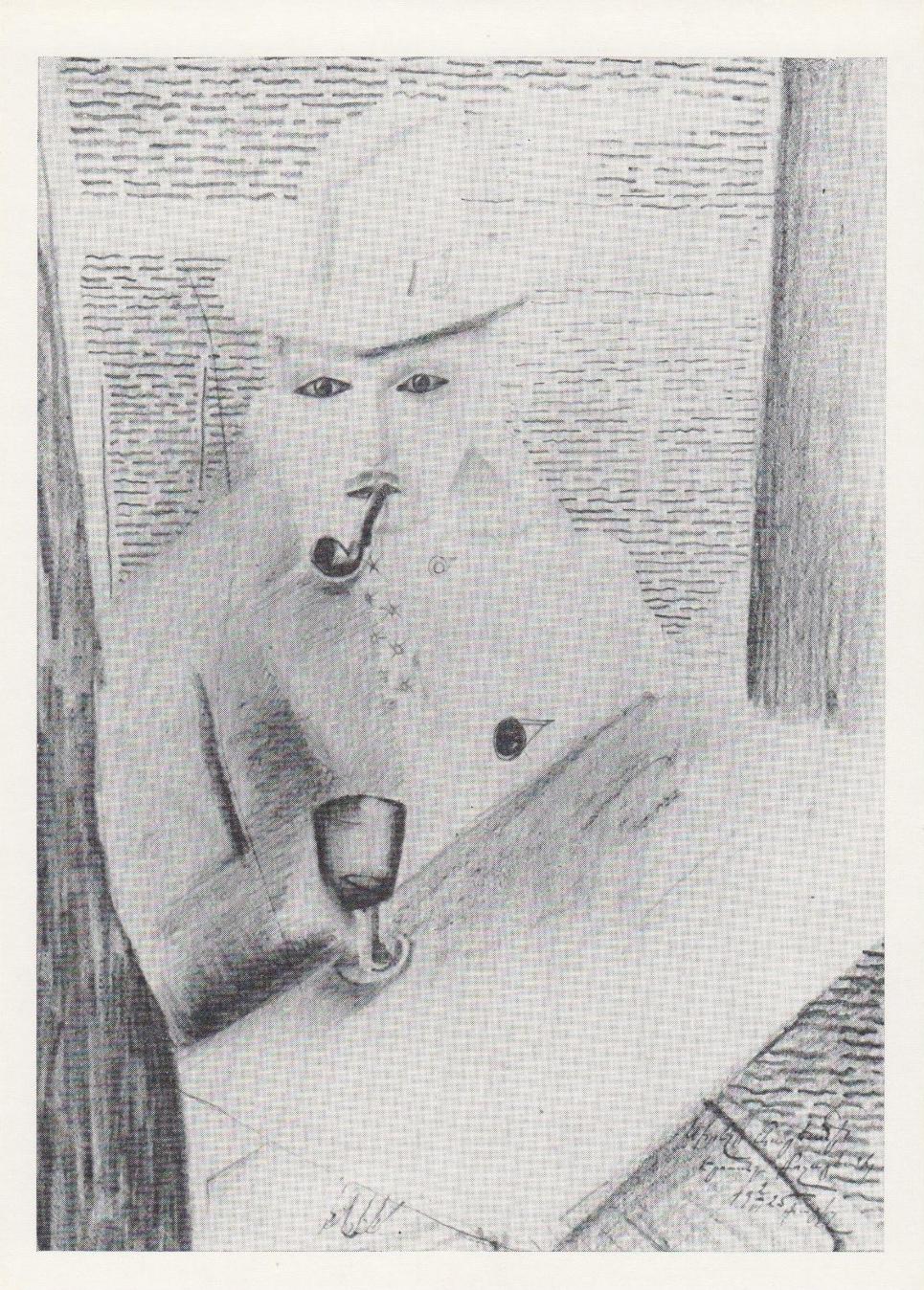 Е.С. Кочар. Мужчина с трубкой. 1925