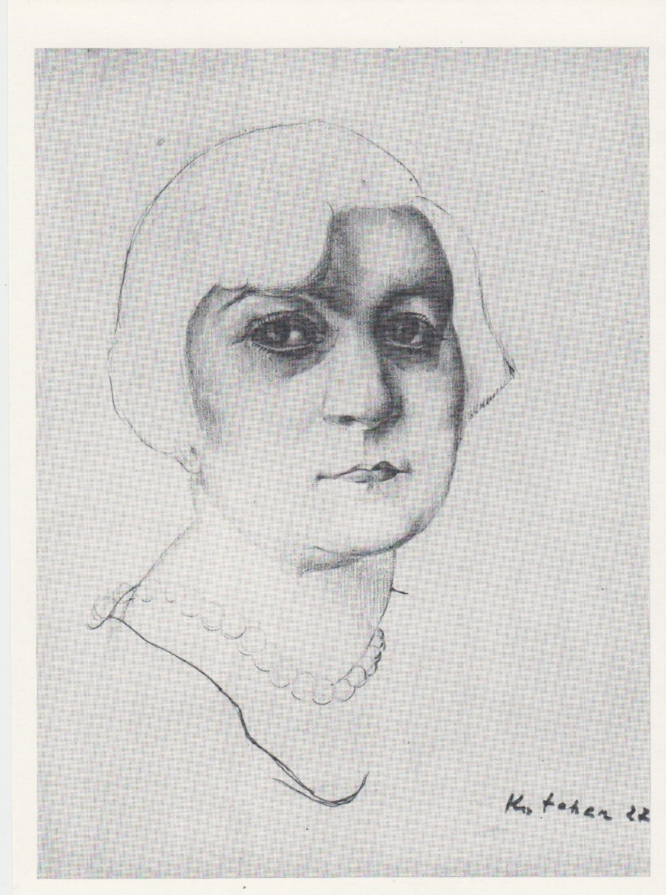 Е.С. Кочар. Портрет Софьи Исаакян.1927
