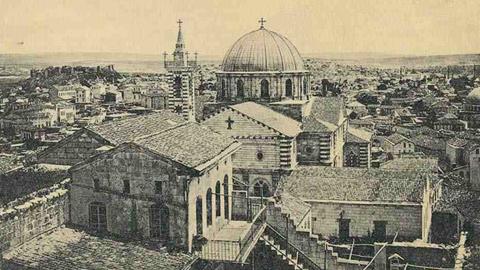 Церковь святой Богородицы в Айнтабе, 1920г.