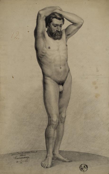 """""""Натурщик"""", Ованес Катанян, 1855"""