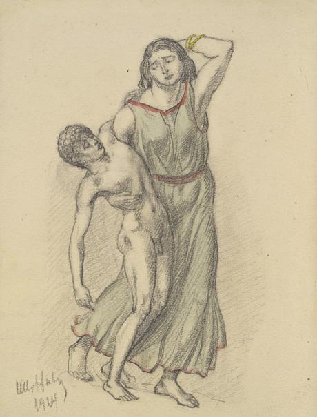 """Рисунок Сурена Степанян """"Ниобея"""", 1924"""