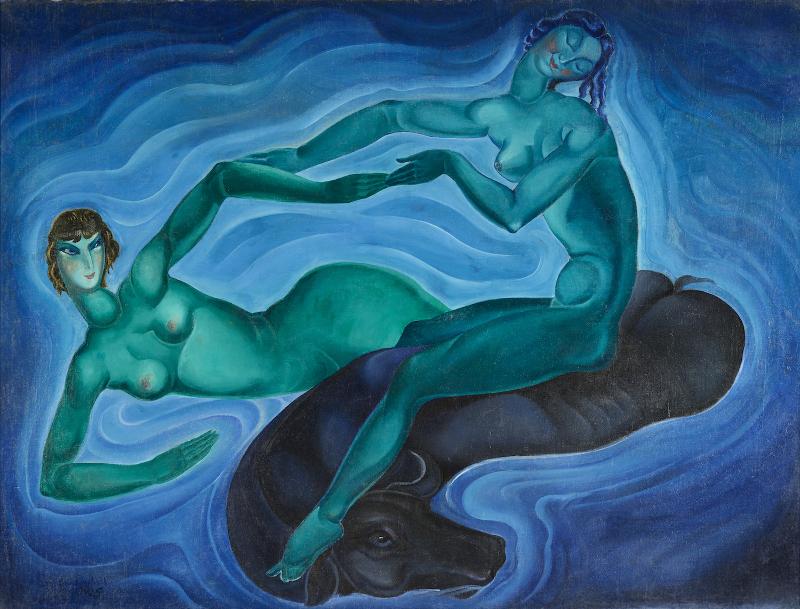 """Ладо Гудиашвили. """"Зеленые нимфы"""", 1925 год"""