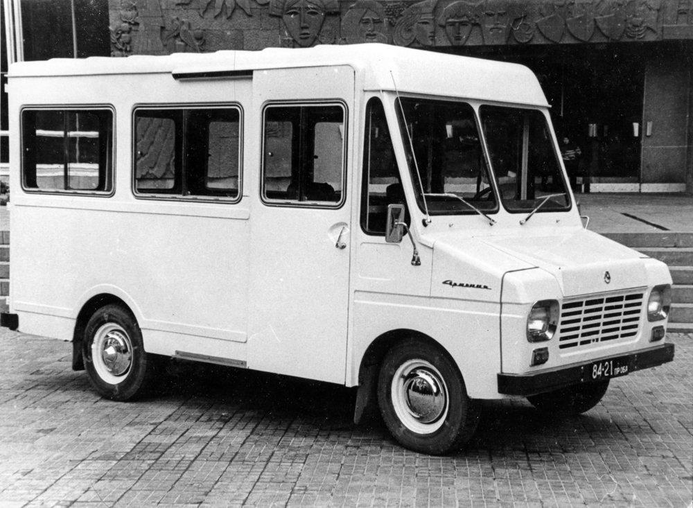 Первый прототип микроавтобуса ЕрАЗ-763 «Армения», 1970 год