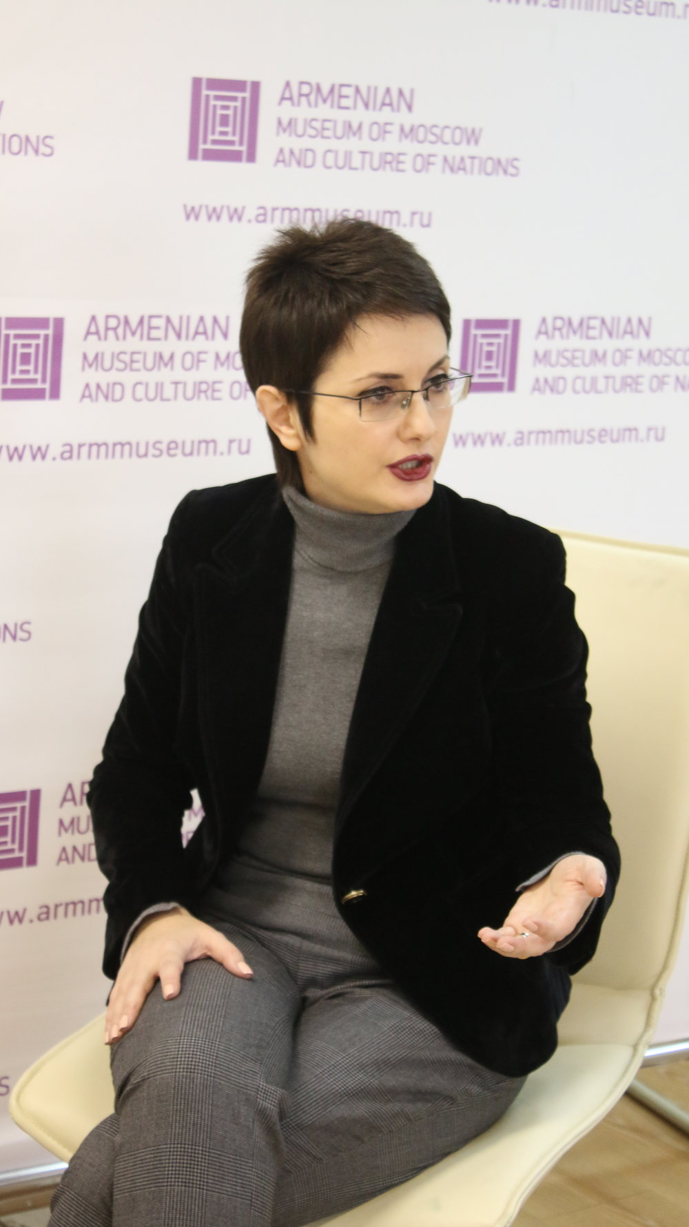 Гость Армянского музея Москвы -заместитель главного редактора Общественного армянского радио - Лика Туманян