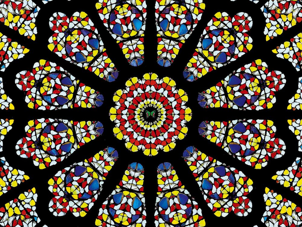 The rose window, Durham Cathedral. Смешанная техника. 299.2 x 299.2 x 15 см.