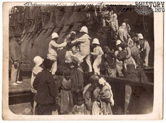 Эвакуация мусалерцев на Guichen