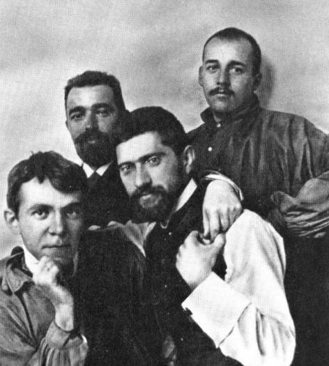 Владимир Щуко, Василий Соколов, Александр Таманян и Николай Лансере